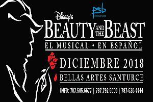 LA BELLA Y LA BESTIA EL MUSICAL, SAN JUAN