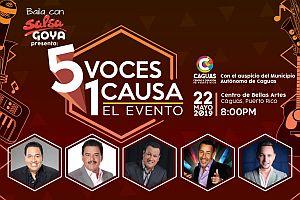 5 VOCES 1 CAUSA - 5 DE LOS MEJORES SALSEROS DE PUERTO RICO EN CONCIERTO, CAGUAS