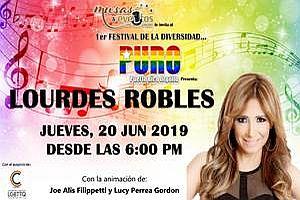 """PURO """"LOURDES ROBLES""""; PUERTO RICO ORGULLO FESTIVAL DE LA DIVERSIDAD, SAN JUAN"""