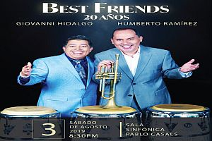 GIOVANNI HIDALGO Y HUMBERTO RAMIREZ BEST FRIENDS 20 AÑOS, SAN JUAN