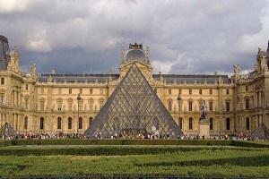 Inside Louvre Museum Paris, Mona Lisa