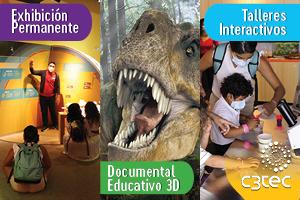 """EXHIBICION: RECORRIDO GUIADO, DOCUMENTAL """"DINOSAURS ALIVE 3D"""", MUSEO C3TEC CAGUAS"""